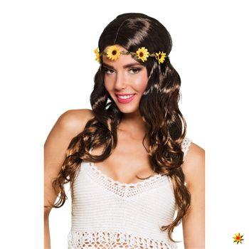 Damen Hippie Perücke Sonnenblume