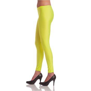 Damen Legging neon-gelb