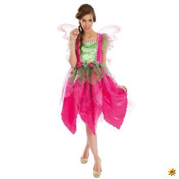Damen Kostüm pinke Blumenfee
