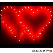 Lichterbild brennendes rotes Doppelherz