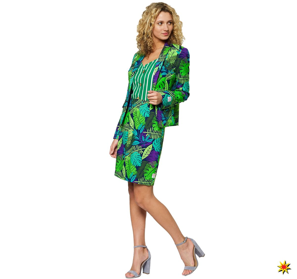 Damen Opposuit Jungle Jane Blazer Mit Rock Grosse 34
