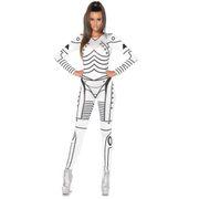 Roboter Kostüm Ash für Damen Gr. S-L schwarz-weiß Zukunft SALE Fasching Karneval Mottoparty