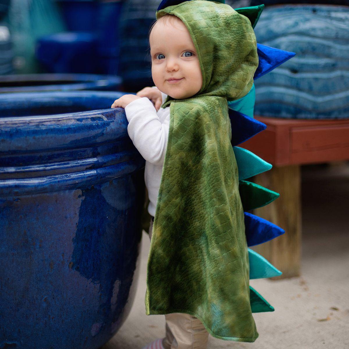 Drachen Kostüm Anton für Kinder 1-2 Jahre Kleinkind grün Dino Saurier Krokodil Fasching Karneval Mottoparty