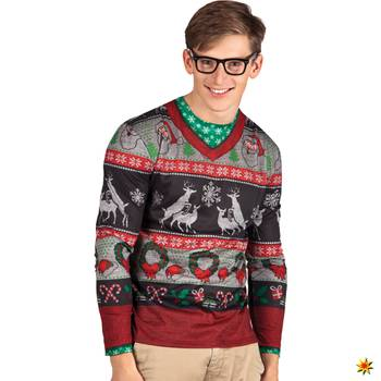 Ugly Christmas Shirt, Langarm-Hemd