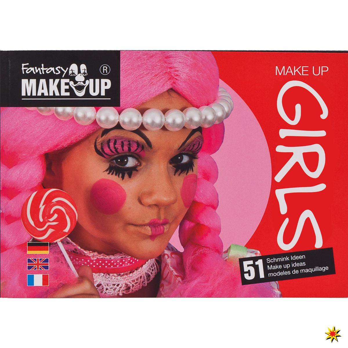 """Make Up Buch """"Girls"""" Schminkheft mit Anleitungen Mädchen Kinderschminken  Karneval Kindergeburtstag"""