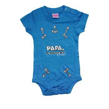 Babyshower Baby Body Kurzarm mit Spruch, türkis