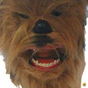 Star Wars Chewbacca Maske Vollmaske beweglicher Mund mit Fellimitat Fasching Karneval