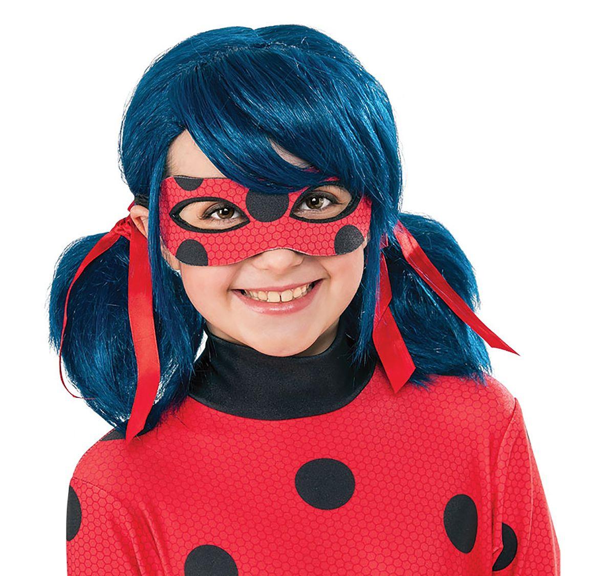 Miraculous Ladybug Perücke Wig für Kinder blau Filmheld Fasching Karneval