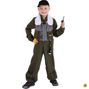 Kinder Kostüm Jet-Pilot Mike, Kampfpilot