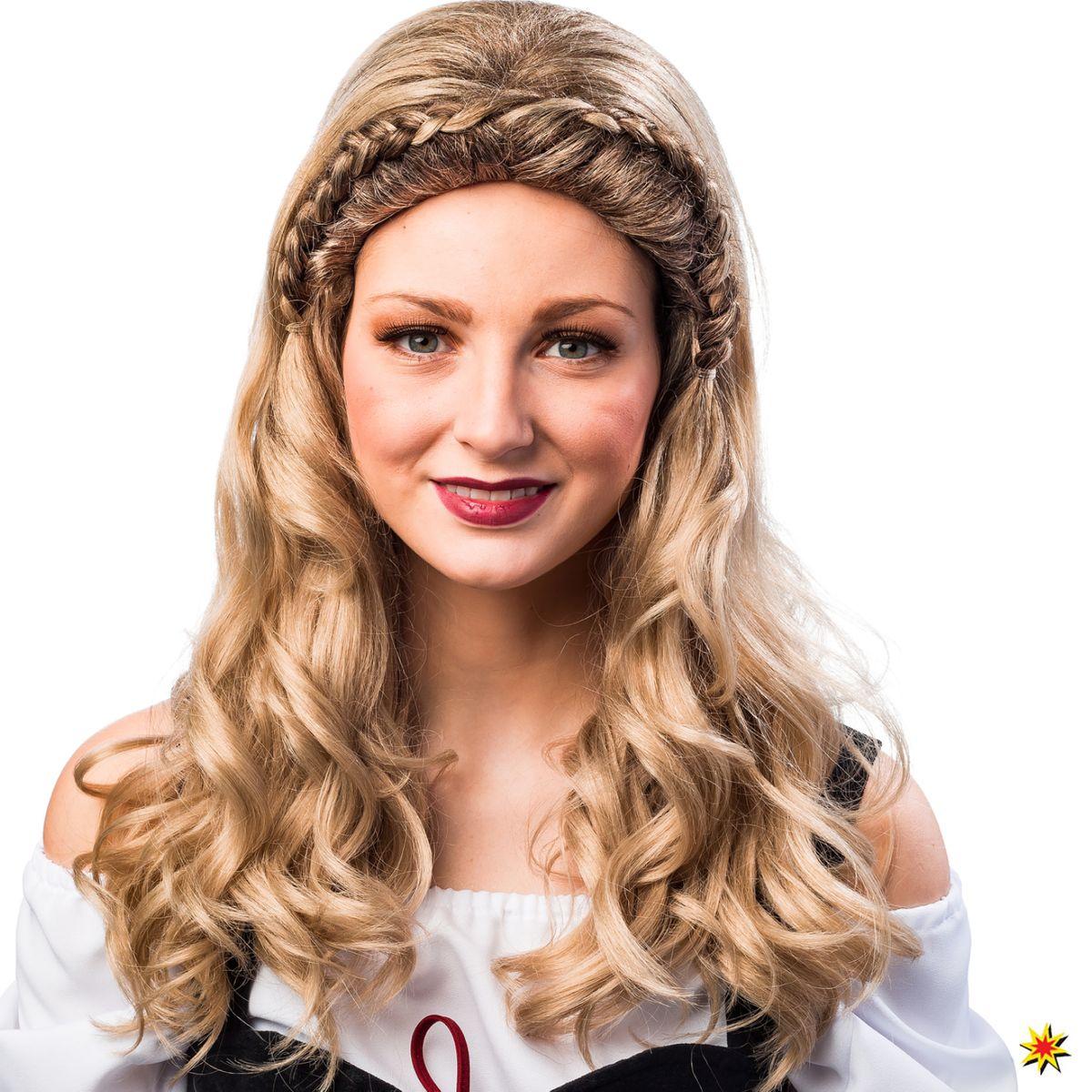 7561121c026862 Oktoberfest Perücke Marie blond geflochten Dirndl Tracht Kostüm-Zubehör  Fasching Karneval Wiesn