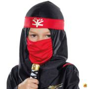 Kinder Kostüm Black Ninja  schwarz Krieger Samurai Schattenkrieger Fasching Karneval Kinderfasching