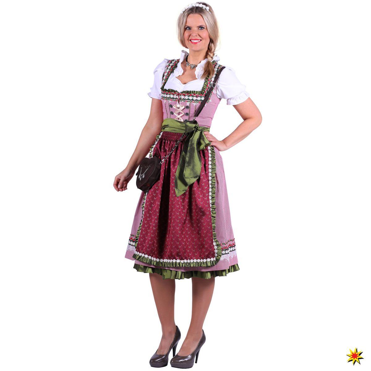 Damen Kostüm Trachtenkleid Dirndl Nora deluxe Oktoberfest Wiesn Karneval af5612bd99
