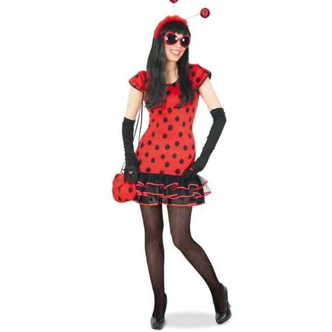 Marienkäfer Kostüm Dana Kleid für Damen Gr. 36-42 Tierkostüm SALE Ladybird Fasching Karneval Mottoparty Partnerkostüm