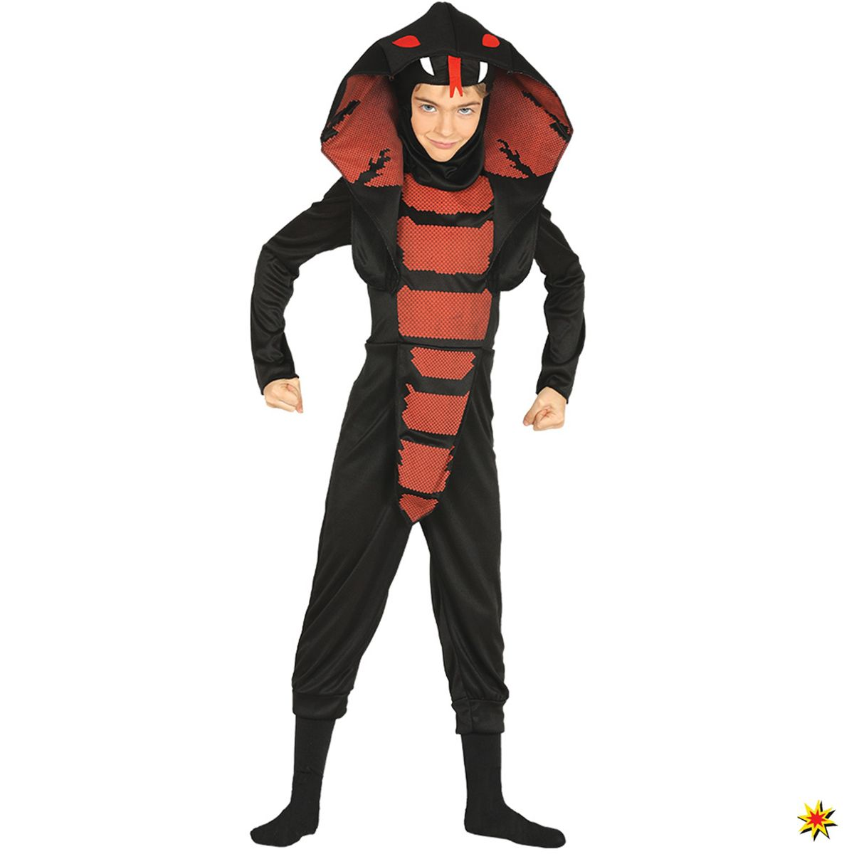 Kinder Kostum Schlange Kobra Ninja Grosse L 7 9 Jahre