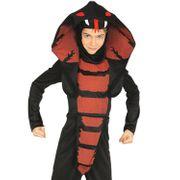 Ninja Kobra Kostüm Schlange für Kinder 3-12 Jahre Jahre schwarz rot Tierkostüm Indien Tier Fasching Karneval Mottoparty Halloween