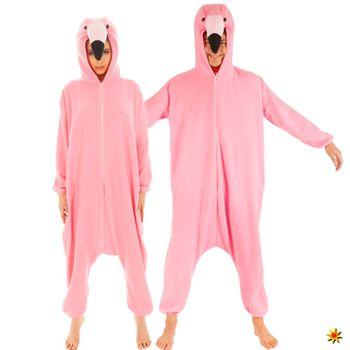 Unisex Kostüm Flamingo Pyjama
