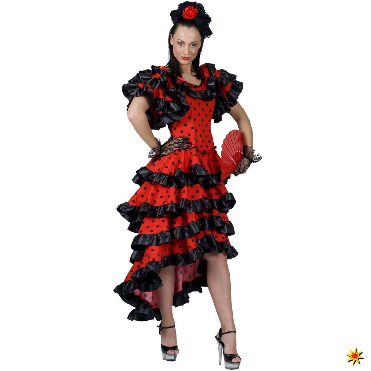 Tänzerin Alessandra Flamenco Damen Spanische Kostüm CBexdo