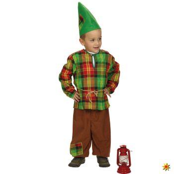Kinder Kostüm Zwerg Seppl mit LED-Lampe