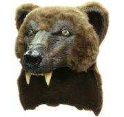 Grizzly Bär Braunbär Maske deluxe Kostüm Zubehör Kopfbedeckung Bärenmütze Indianer Fasching Karneval Mottoparty