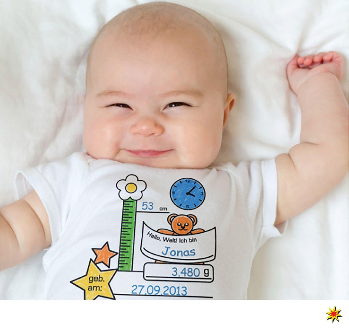 Unisex Baby Body Zum Bemalen Geschenk Zur Geburt Personalisiert Babyshower