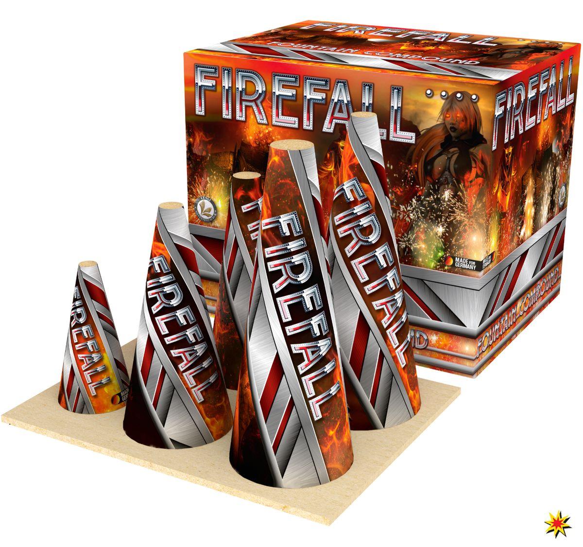 Firefall Vulkan-Feuerwerksverbund mit 2-7m Effekthöhe und  148 Sekunden Brenndauer