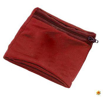 Geldbörse Armbandtasche rot, Kostüm-Zubehör