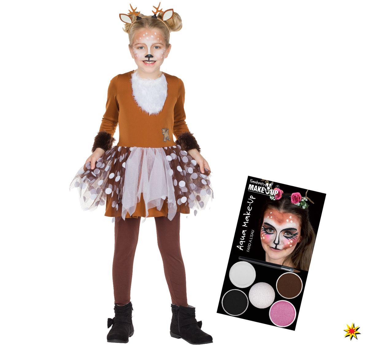 Kinder Kostum Rehkitz Bambi Inkl Aqua Schminke