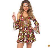Damen Kostüm Hippie Flower Power Girl Alice