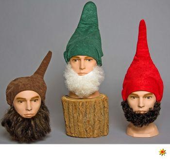 Zwergen Bart Farbauswahl weiß braun, Kostüm-Zubehör