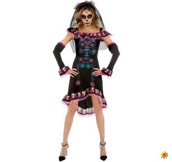 Damen Kostüm Halloween La Catrina Mrs. Day of the Dead