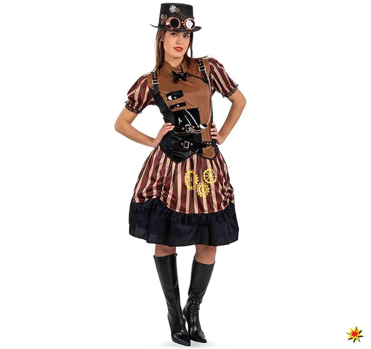 damen kostüm steampunk lady, kleid