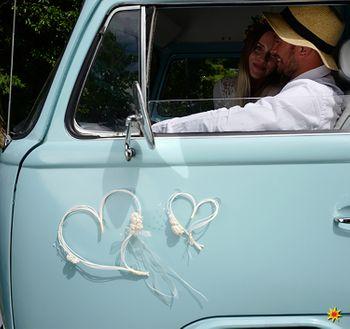 Autoschleifen Hochzeit Set Motorhaube Dosen