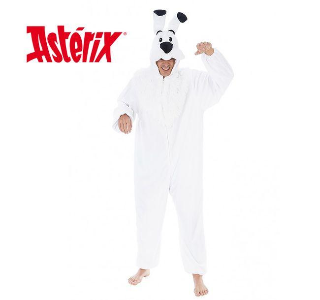 Unisex Kostüm Hund Idefix aus Asterix und Obelix Tierkostüm Damen Herren Gruppenkostüm Fasching Karneval