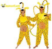 Unisex Kostüm Comicheld Marsupilami Tierkostüm Fantasie Fabeltier Fasching Karneval Paarkostüm
