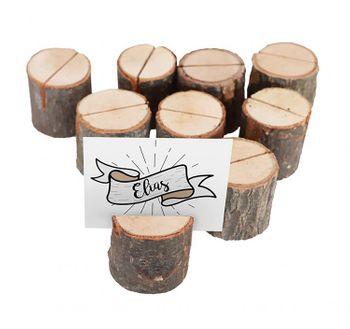 Tischkartenhalter Nummernhalter aus Holz Hochzeit Geburtstag, 9 Stück