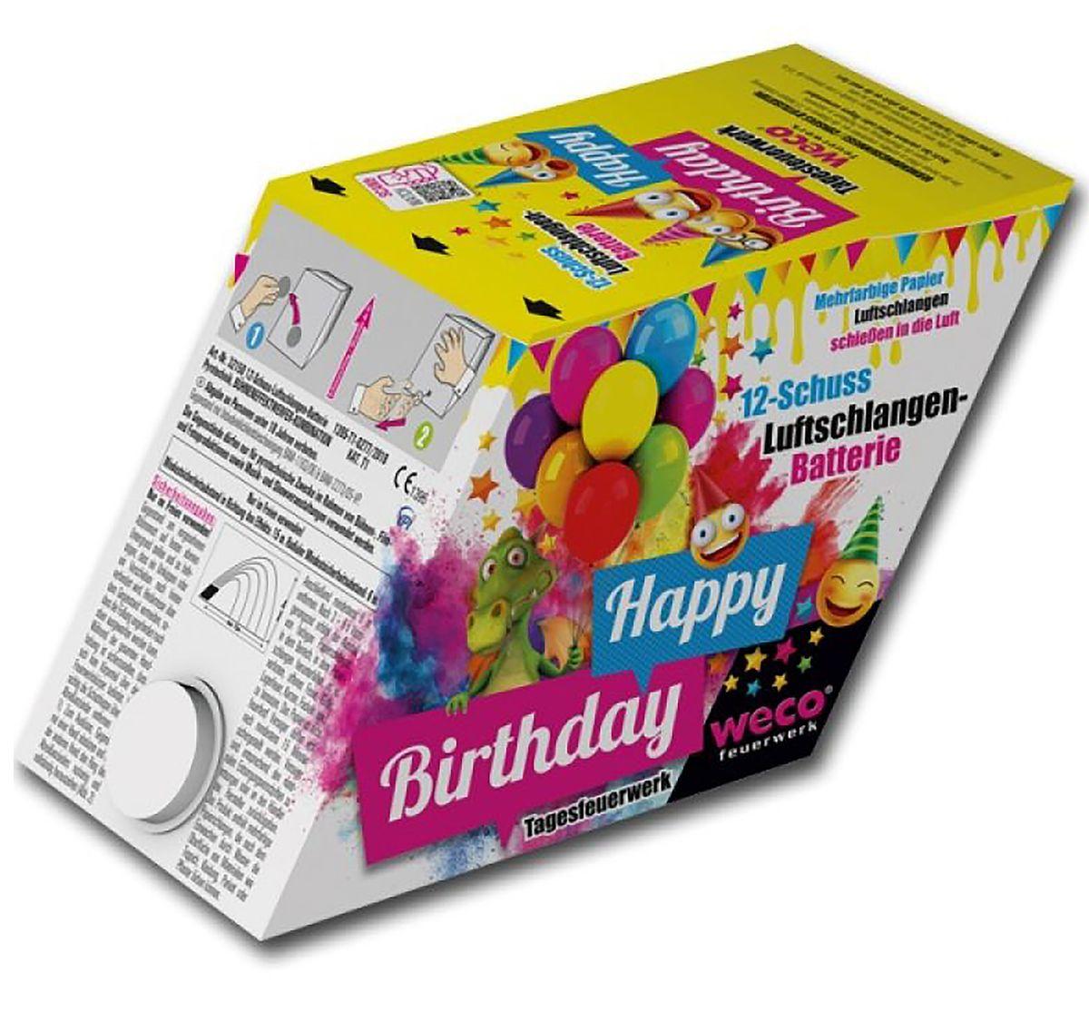 Tagesfeuerwerk-Happy Birthday von Weco, Geburtstagsfeuerwerk, Hochzeitsfeuerwerk, Silvesterfeuerwerk