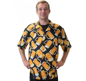 Hawaiihemd Bier Kostüm Oktoberfest Alkohol Freizeithemd