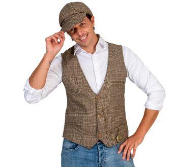 Herren Kostüm 20er Jahre Weste mit Schiebermütze