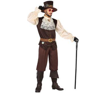 Herren Kostüm Steampunk Eduard inkl. Steampunk Hut