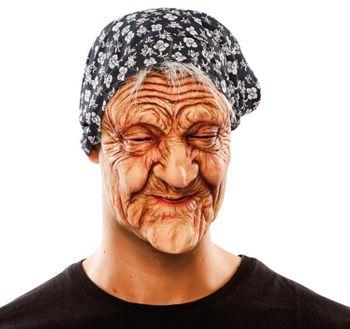 Maske Alte Frau Latexmaske Oma Hexenmaske Kostüm-Zubehör