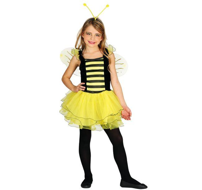 Kinder Kostüm Biene Susi  5-12 Jahre Kleid mit Flügeln Fasching Karneval Tierkostüm Kinderfasching Mottoparty