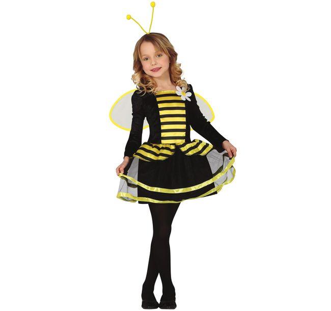 Kinder Kostüm Biene Maja  5-12 Jahre Kleid mit Flügeln Fasching Karneval Tierkostüm Kinderfasching Mottoparty