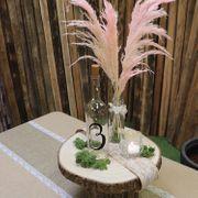Holzscheibe Baumscheibe Deko Hochzeit 1 Stück 38 cm x 3,5 cm Tisch-Deko Geburtstag Sommer-Party Mottoparty DIY Dekoration