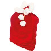 Weihnachtsmannsack Geschenkesack Samt 90x 60 cm rot Weihnachten