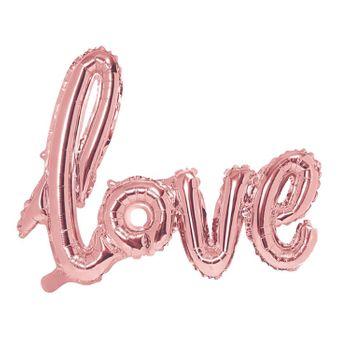Love Folienballon metallic roségold Deko Hochzeit