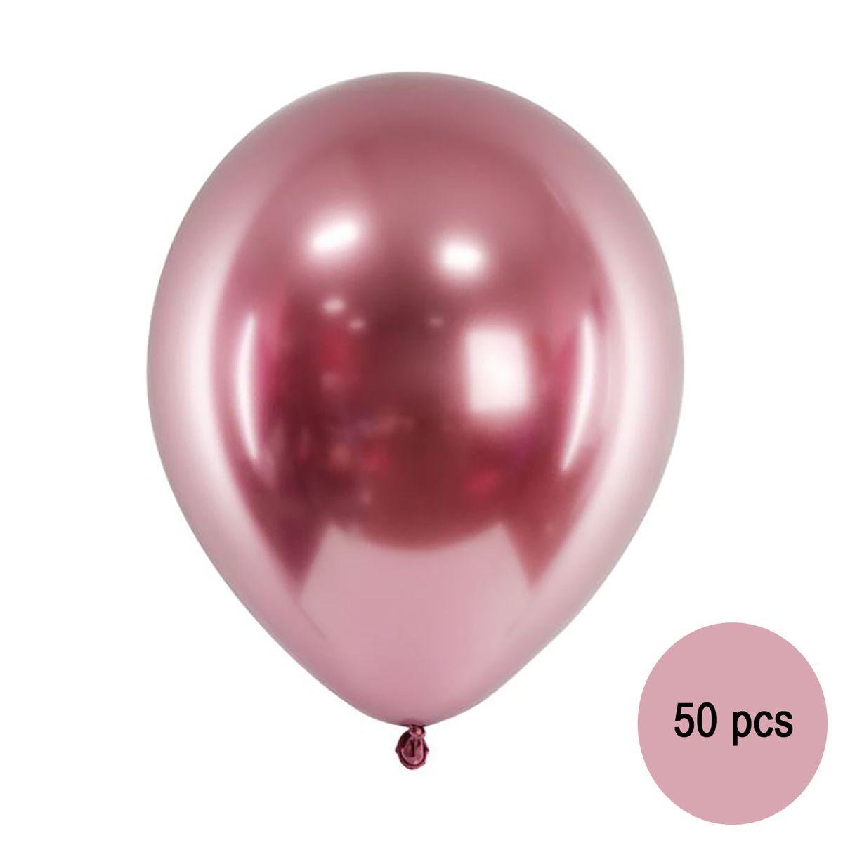 50 Luftballons metallic roségold Ø 30 cm Deko Hochzeit Geburtstag Valentinstag Party-Zubehör