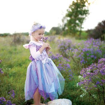 Fee Kostüm für Kinder Prinzessin Kleid lila