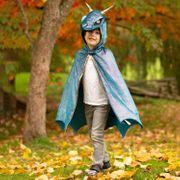 Drachen Kostüm für Kinder Sternennacht blau metallic Drachenumhang