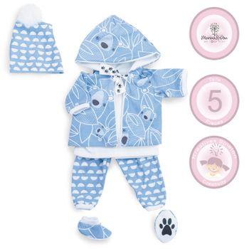 Puppenbekleidung 45 cm blau Eisbär 5-tlg. Set Puppen-Zubehör