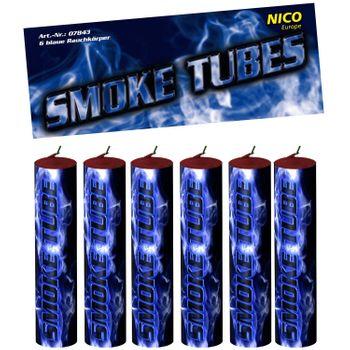 Nico Smoke Tubes Blau - 6 Rauchfackeln je 50 Sek.